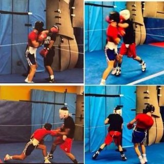 Will Cawley in Colorado Spring's USA. Sparring with the US number one.